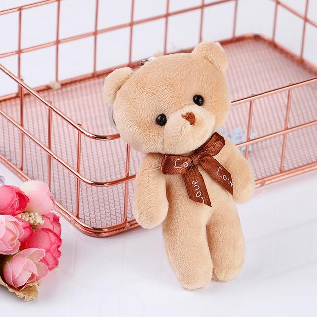 10cm Cartoon Teddy Bear Plush Stuffed Toy Flower Bouquet Joint Mini Teddy Bear For Diy Wedding Home Decor Children Toy Doll Gift Uncategorized Decoration Stuffed & Plush Toys Toys