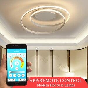 Image 1 - Hot Sale Modern LED Ceiling Lights For Living Room Bedroom Dining Room Luminaires White&Black Ceiling Lamps Fixtures AC110V 220V