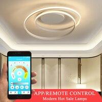 Hot Sale Modern LED Ceiling Lights For Living Room Bedroom Dining Room Luminaires White&Black Ceiling Lamps Fixtures AC110V 220V