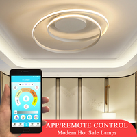 Hot Sale Modern LED Ceiling Lights For Living Room Bedroom Dining Room Round Frame White&Black Body Ceiling Lamps Input 110V220V