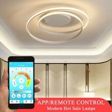 뜨거운 판매 현대 LED 천장 조명 거실 침실 식당 Luminaires 화이트 & 블랙 천장 조명기구 AC110V 220V