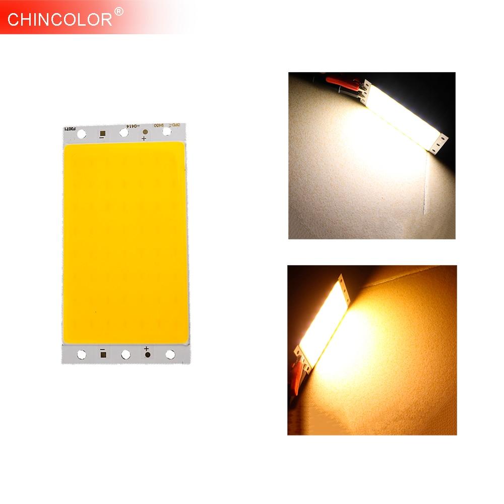 COB Led Chip 10W Light Source DC12-14V Rectangle Warm White DIY 12V Car Lights Work Table Lamp Downlight Fast Ship JQ