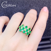 Ювелирные изделия colife 100% Настоящее Изумрудное кольцо для вечерние 10 штук 3 мм * 4 мм Изумрудное серебро кольцо 925 серебро изумруд ювелирные из