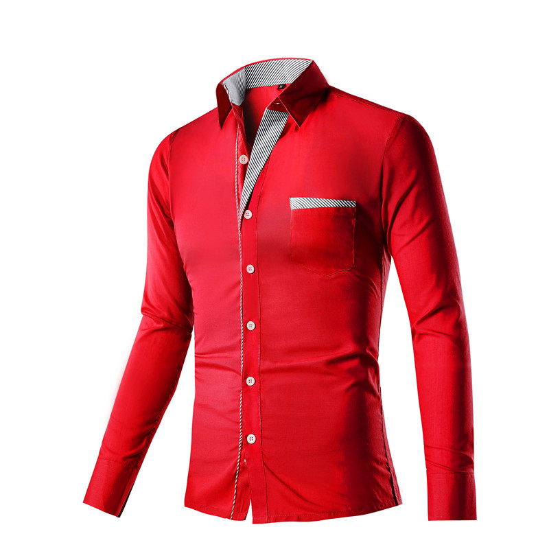 New men shirts spring autumn trendy fashion slim casual for High end men s shirts