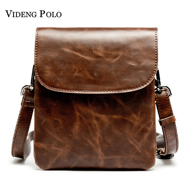 VIDENG POLO Brand Men Messenger Bag Fashion Men Crossbody Bags Waterproof  Leather Designer Casual Small HandBag Shoulder Bags 5329c83e31