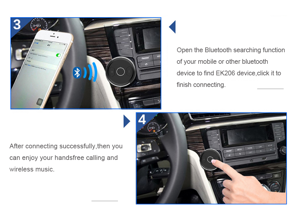 FDOMAIN auto 3.5mm jack AUX bluetooth adapter hands free car kit audio receiver support siri and other mobile voice assistant 12