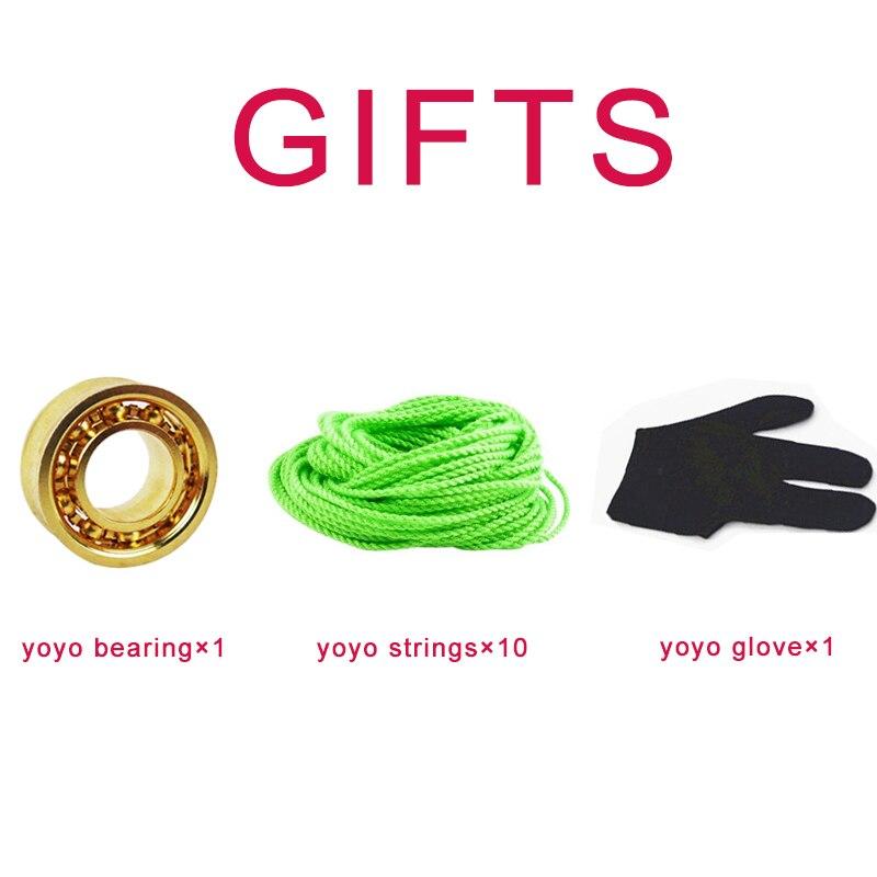 YXHUI Yoyo Nouveau Arriver TPK Razor YOYO V5 NITIONS Niveaux DE Style WESTERNE YOYO Copper pour Professionnelle Joueur YO-YO Couleur : Rose