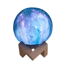 Remote Control Star 3D Moon Lamp Led Night Light For Party Pub Concert Usb Charging Painted Moon Lamp