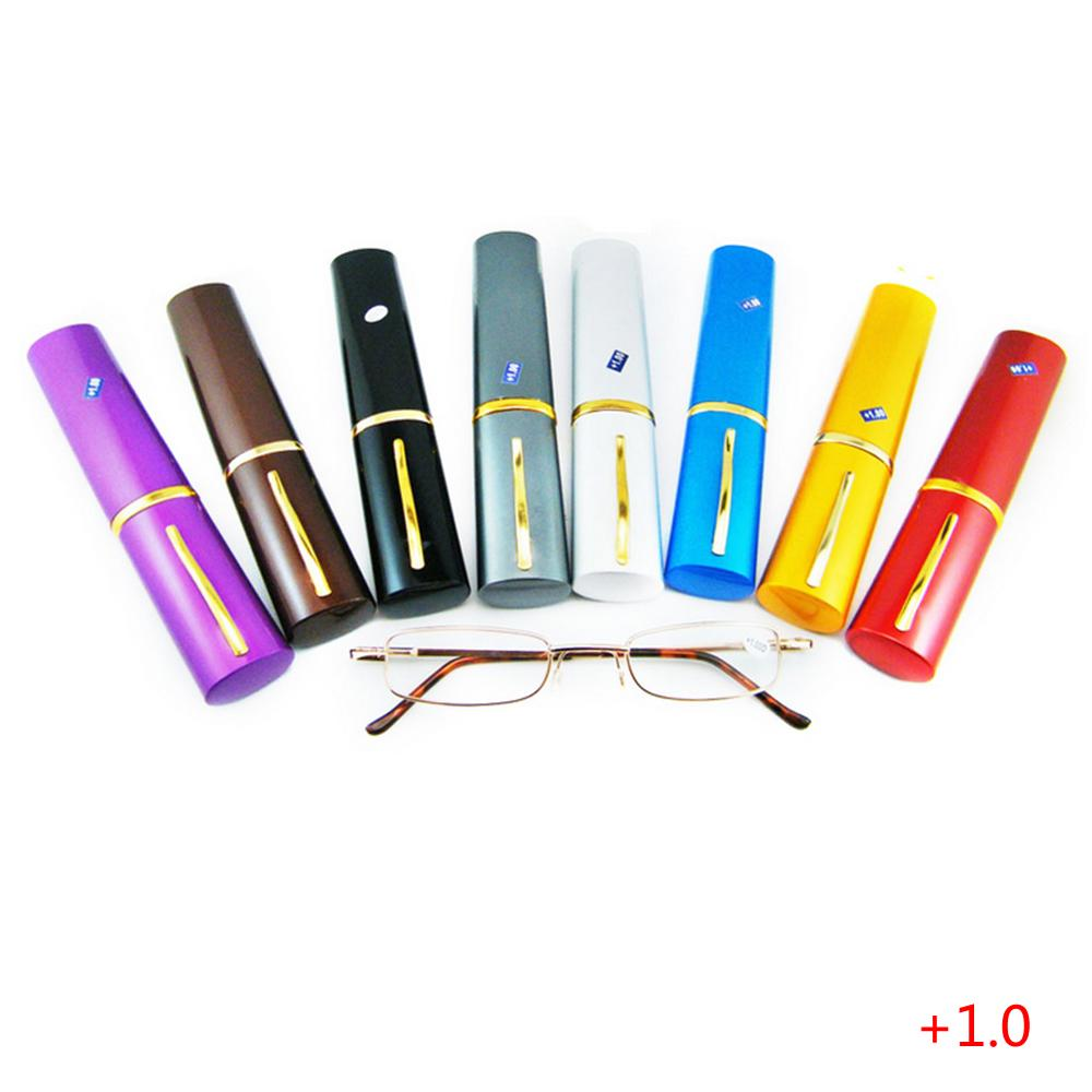 New Alloy Comfy Reading Glasses Container Presbyopia 1.0 1.5 2.0 2.5 3.0 Diopter