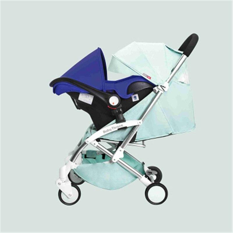 4 en 1 voyage bébé poussette infantile siège de voiture chaise de sécurité panier bébé berceau nouveau-né landau landau Buggy