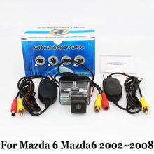 Car Rear View Camera For Mazda 6 Mazda6 2002~2008 / RCA Wire Or Wireless / HD Wide Lens Angle / CCD Night Vision Backup Cameras