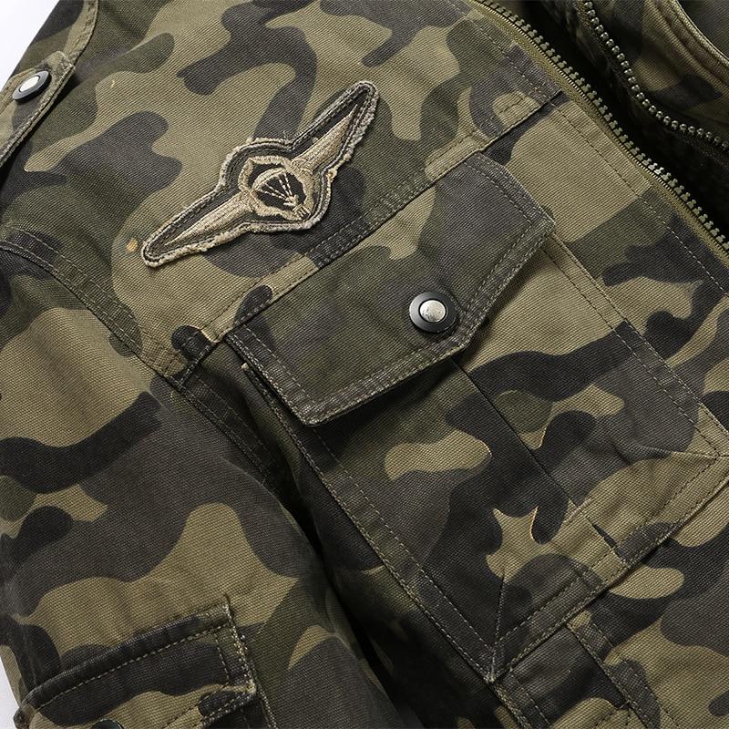Militar Collar Camoufl Casaco Chaqueta Militar Multi Chaquetas Hombres M Otoño Bolsillos caqui Verde 4xl Feminino Más Algodón Tamaño Tactical nqF00TAw6
