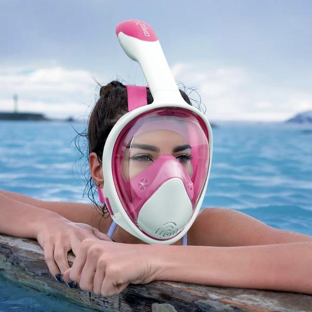 COPOZZ Scuba Underwater Diving Mask Anti Fog Snorkel Mask Breathing for Gopro Camera Men Women Full Face Mask Kid Children Adult 5