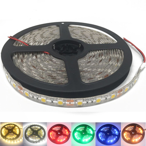 LED Strip 5050 DC 24V RGB WarmWhite 24 v 5 meter waterproof flexible Light stripe 60LED/MLed Tape Luces lamp Ribbon tv backlight