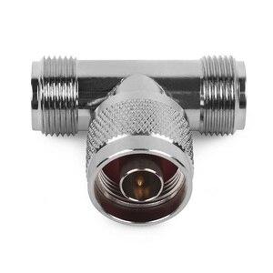 Image 3 - Connecteur 3 voies N prise mâle à 2 N femelle Triple T dans ladaptateur RF pour antenne extérieure/intérieure/répéteur de Signal N connecteur mâle