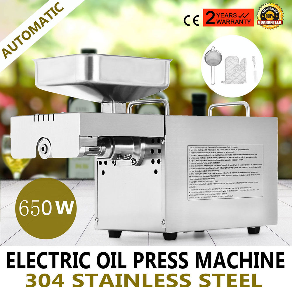 Stainless Steel Mini Oil Press Machine for Sunflower,Sesame,Coconut Commercial Cold press oil machine Small business extractor Мельница