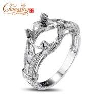 8 0mm Round Vinage Style Pave Diamond 14k White Gold Engagement Semi Mount Ring