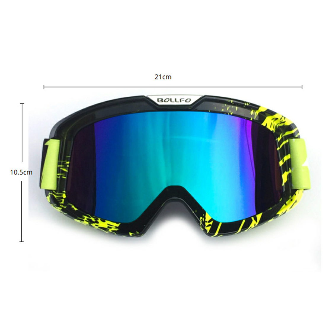 iguardor UV400 Outdoor Cycling Goggles Windproof Eyes Protector Skiing Sunglasses Black and Green Colorful Lens in Cycling Eyewear from Sports Entertainment