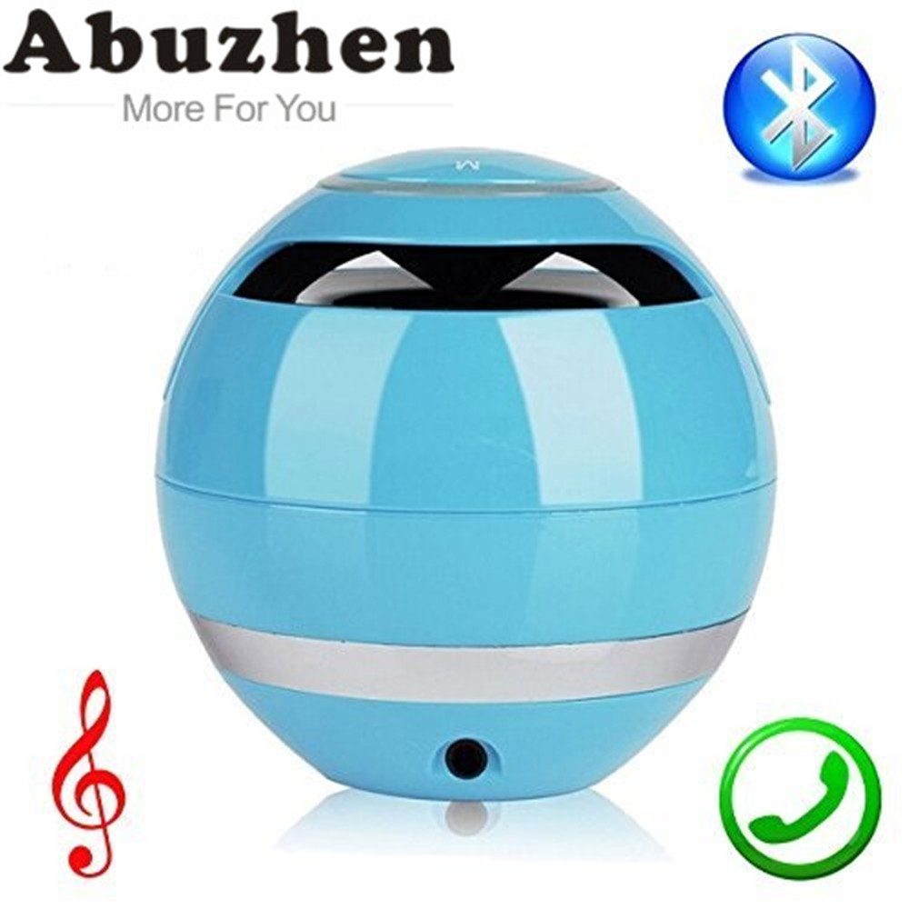 Abuzhen Portable Stereo Mini Bluetooth Wireless Speaker for Smartphone Tablet with Mic Hands-free for Phone Support TF Card AUX