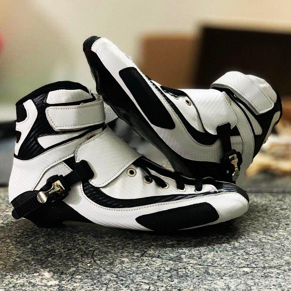 2019 Alta Tornozelo Até Botas Inline Velocidade Patins Patines Sapatos Profissional Adultos Crianças Corrida de Patinação de Fibra de Carbono Superior Bota F075