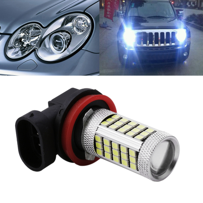 1Pc DC 12V H4 H7 H8 H11 9005 9006 2835 63 LED 6000K Car Projector Fog Driving Light Bulb White Car Light Source New