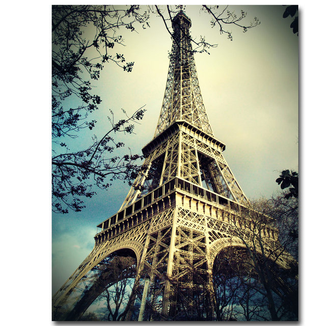2017 canvas picture paris eiffel tower painting on canvas wall picture art print no frame - Eiffel Tower Picture Frame