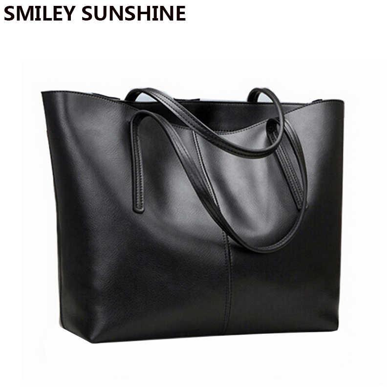 78bbdf26e7b7 Женская сумка из натуральной кожи женская большая сумка через плечо для  женщин большая черная Роскошная известная