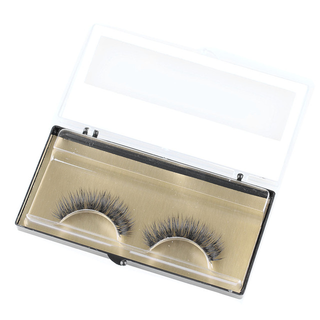 1 Pair New Fashion Women Beauty Makeup 100% Handmade Real Mink Hair Natural Soft False Eyelashes Cross Lashes Fake Eyelashes 1