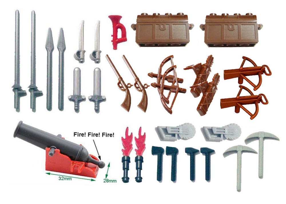Weapon Sword for Ninja Darth Vader trooper Castle Knight Shield spear crossbow Building Block figures