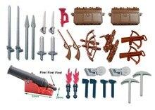 Weapon Sword for Ninja Darth Vader trooper Castle Knight Shield spear crossbow Building Block figures