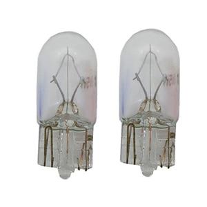 10x T10 галогенная лампа W5W W3W белого янтарного цвета 12V 3W 194 158 боковая клиновидная автомобильная лампа, инструмент освещения, галогенная лампа ...