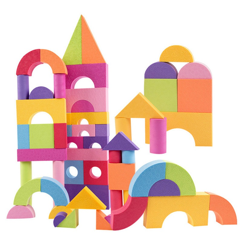 Montessori EVA Building Blocks Set 50 stk. Safe Baby Leker For Barn Gutter Jenter Oyuncak Juguetes Brinquedos Brinquedo