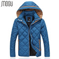 MOGU Winter Jackets Men Casual Male Coats Hooded Cotton Fit Fashion Thicken Down Jackets Suit High Quality Men's Slim Coat