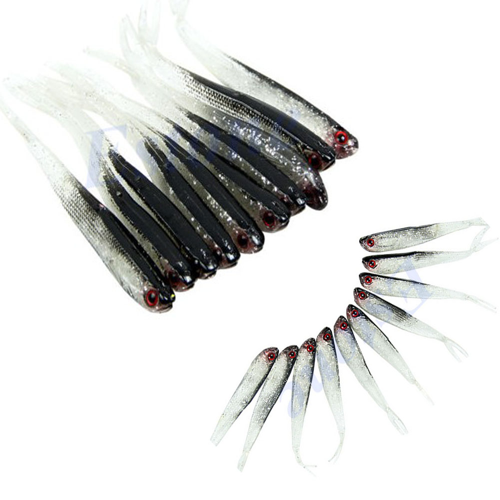 10pcs/lot 75mm 2.5g Soft Tiddler Bait Fluke Fish Fishing Lures Saltwater Lure Tackle Grade Products According To Quality Fishing Lures