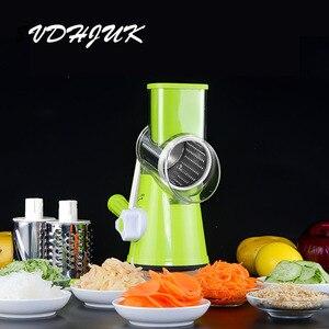 Image 1 - 多機能マニュアル野菜スパイラルスライサーチョッパースライサーおろし器野菜カッターキッチンツール