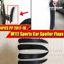 Fits For MercedesMB W117 Rear Bumper Flicks Spoiler PP 4 pcs Sports CLA180 200 CLA45amg style Splitter Wing 2017-18