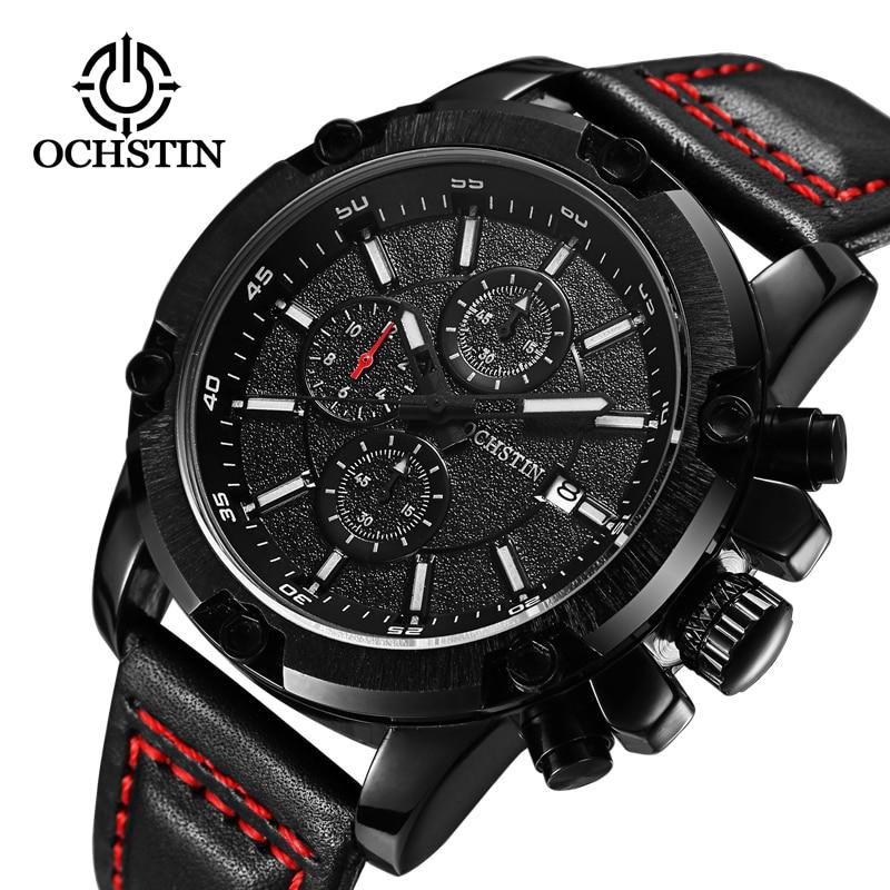 2017 correa de cuero de moda relojes hombres reloj casual hombres de negocios relojes de pulsera militar militar reloj de cuarzo relogio masculino