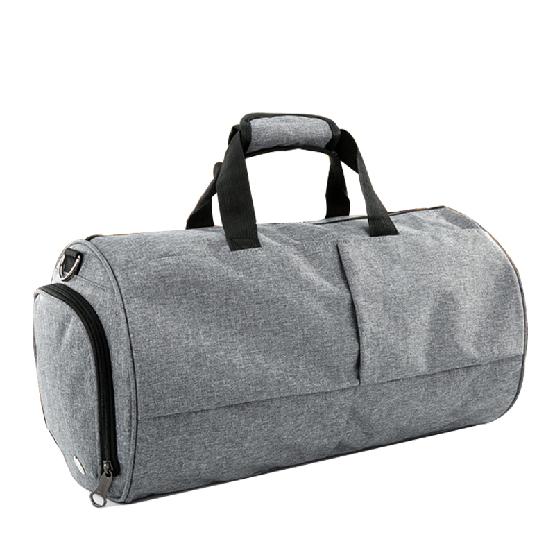 Black Gray Shoulder Bag Cylinder Shaped Travel Bags for Men Women Handbag  Travel Duffel Bags Round Barrel Unisex Luggage Tote-in Travel Bags from  Luggage ... ae894b0334af2