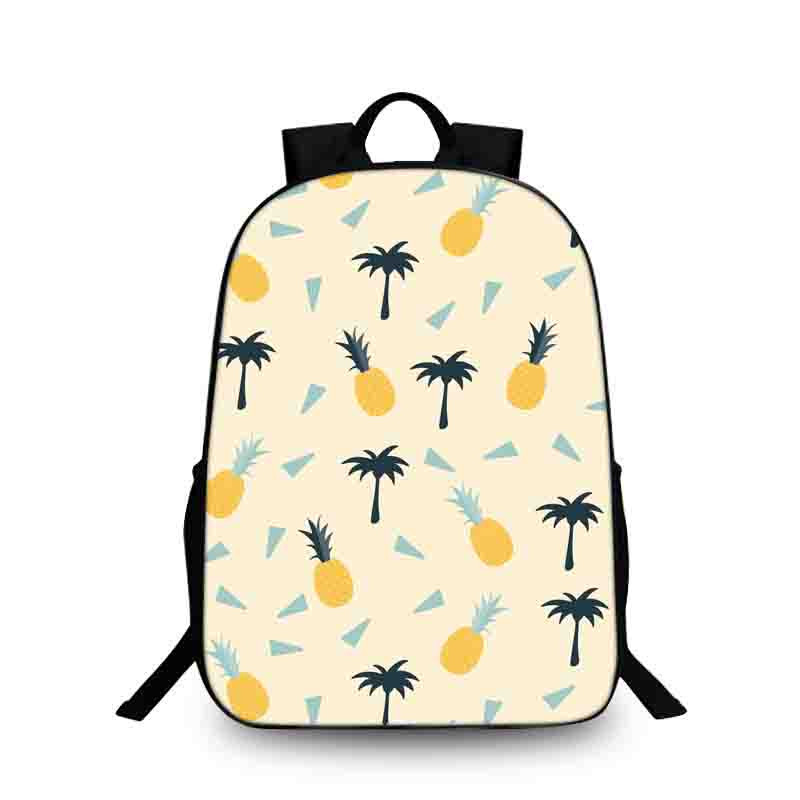 BAOBEIKU Women Backpack For School Teenagers Girls Boys Bags Pineapple Cute back pack Canvas Printing Backpacks Travel Mochila