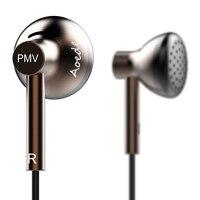 PMV B01 AOEDE In Ear Earphones Flat Head Earplugs Hifi Metal Earphone For Iphone For Samsung