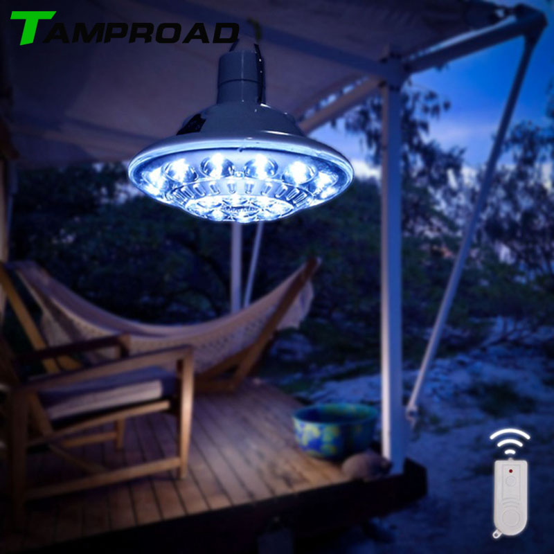 TAMPROAD AC/Solar Powered Wireless Security Light for Patio Deck Yard Driveway Outside Wall with 3 Modes Remot Control LampTAMPROAD AC/Solar Powered Wireless Security Light for Patio Deck Yard Driveway Outside Wall with 3 Modes Remot Control Lamp