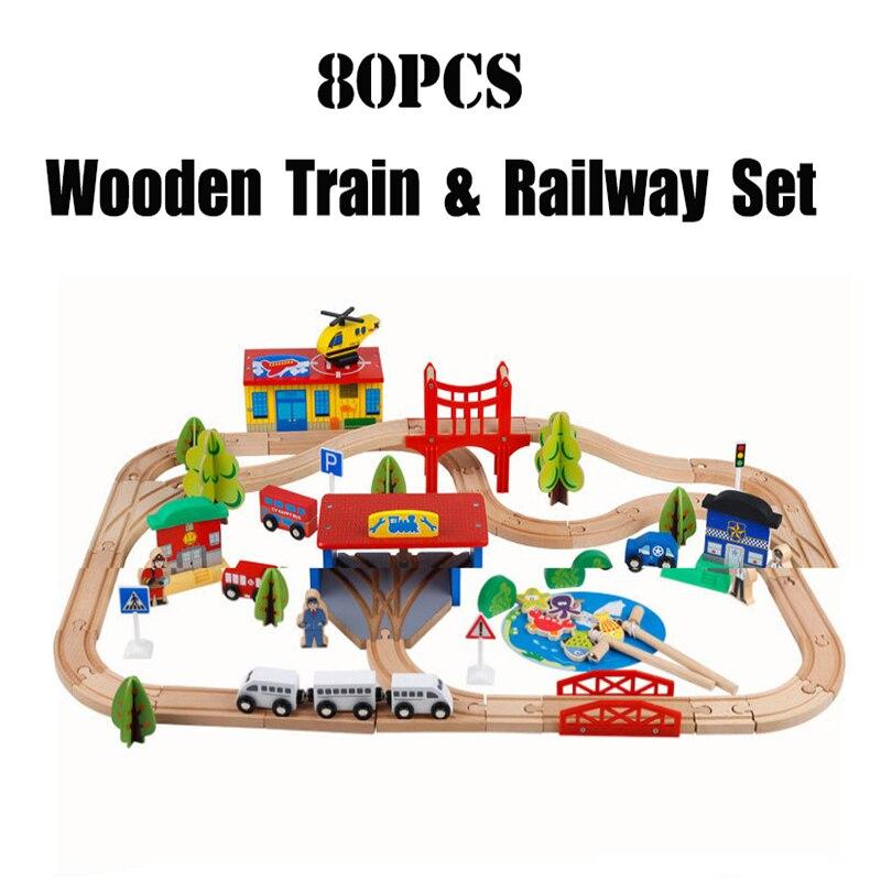 Томас и его друзья деревянный поезд трек набор огонь вагон Набор деревянные дорожки сборки блоков Магнитная поезд Развивающие игрушки для ...