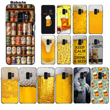 Babaite Wereld Beers Alcohol Zomer Bubble Diy Protector Telefoon Case Voor Galaxy S10 S6 Rand Rand Plus S7 Edge S8 plus S9 Plus(China)