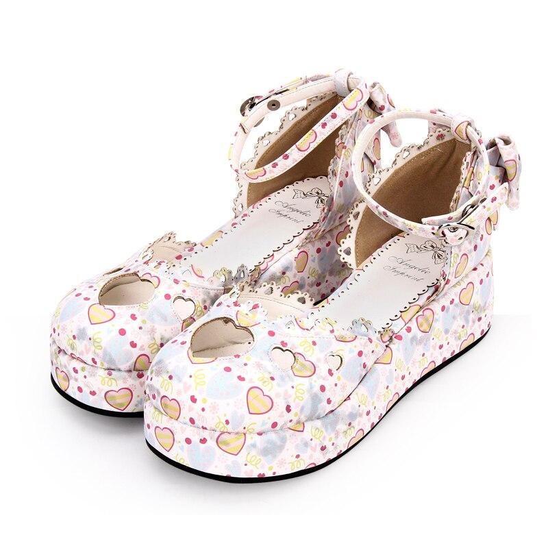 Chaussures Nouvelle Pompes Style Doux Mode Angélique Lolita 8950 rose Empreinte Talon Taille 35 39 Compensé Rond Bleu Femmes Bout qgtxwgY7X