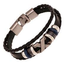 3 Colors Friendship Bracelet Male 2017 Vintage Leather Bracelet Men Charm Jewelry For Women Femme Drop shipping