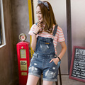 New summer denim shorts female strap hole loose slim pants all-match sling