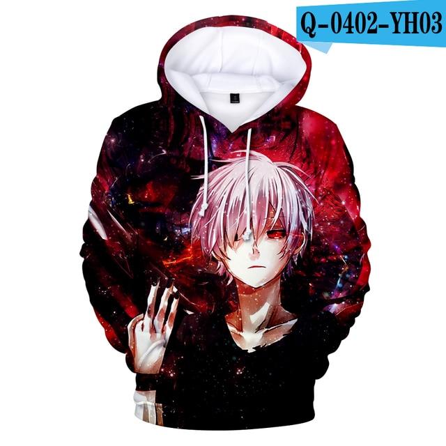 Tokyo Ghoul Hoodies Sweatshirts Newest Fashion Funny Anime Hoodies and Sweatshirts 3d Tokyo Ghoul harajuku Hip Hop Clothing