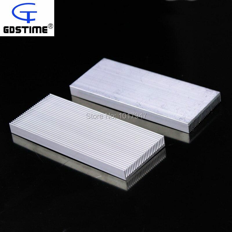 5 Pieces lot 100x40x8mm Aluminum Heatsink For Electronics Computer Electric Equipment