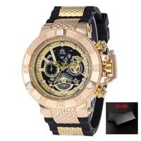 Relogio Dourado Masculino Men Watch Quartz Watches Chronograph Skeleton Business Military Wristwatches Clock Dropshipping 2019