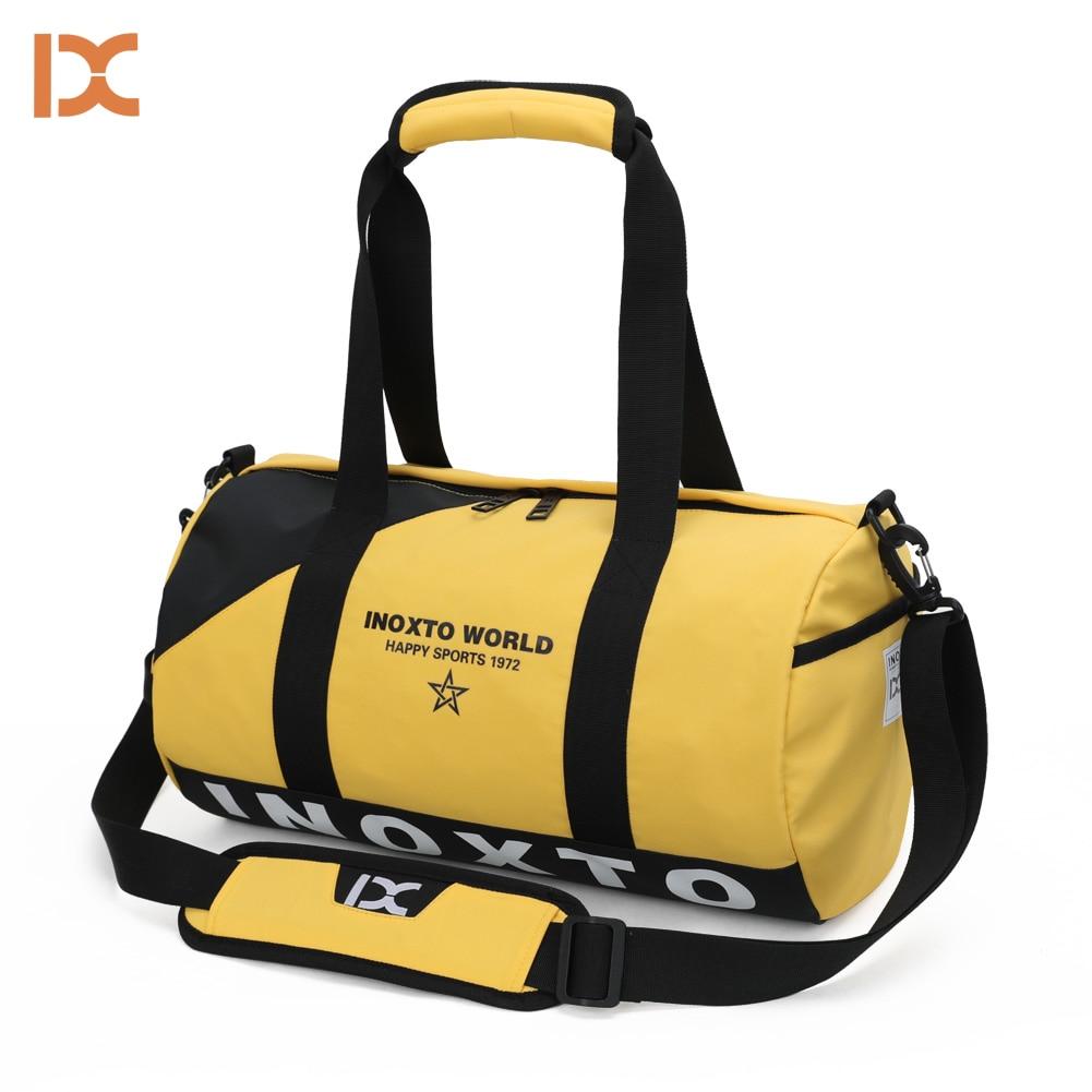 Gym Bag Basketball Court On Vintage Wooden Women Yoga Canvas Duffel Bag Crossbody Tennis Racket Tote Travel Bags